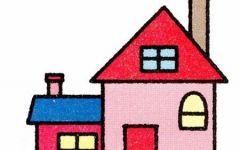 房子简笔画颜色多图片