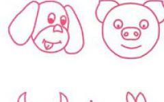 幼儿简笔画动物头像