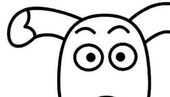 动物小狗头像简笔画