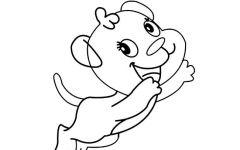 卡通小狗简笔画可爱