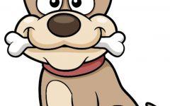 小狗简笔画彩色可爱
