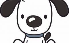 小狗卡通简笔画可爱