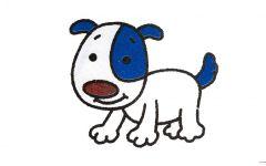 小狗简笔画彩色大全