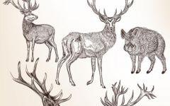 鹿和森林简笔画