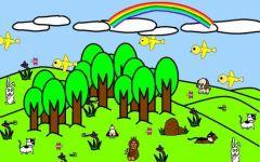 森林图片唯美简笔画