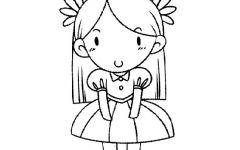 唯美人物插图简笔画