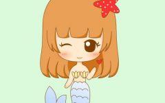 卡通可爱少女简笔画