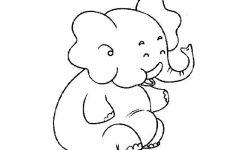 卡通动物简笔画大象