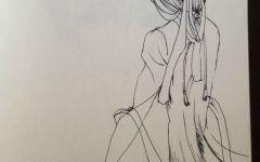 古风背影手绘简笔画