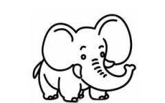 大象头骨简笔画大全