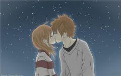 日系情侣接吻动漫图片