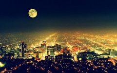 伤感夜晚城市唯美图片带字