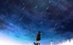 一个人看夜空伤感图片