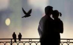 情侣头像老人幸福背影