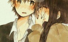 伤感的情侣图片二次元