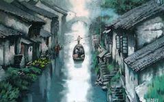 江南雨天伤感美景图片