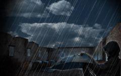下雨天男生伤感图片