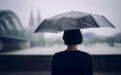 下雨的图片伤感背影