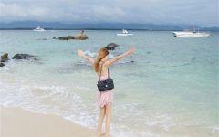 海边风景图片女生浪漫
