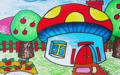 儿童画房子图片