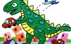 恐龙儿童画大全