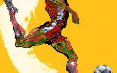 足球绘画图片大全动漫