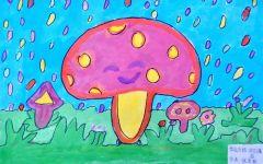 儿童画小树图片