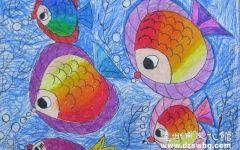 鱼的儿童画图片