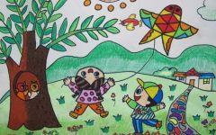 春天图画儿童画