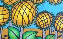 儿童绘画向日葵