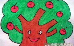 幼儿园树的图画