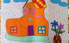 房子的绘画图片
