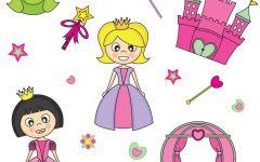 简单的绘画公主