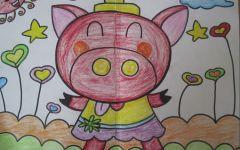 儿童简单绘画猪