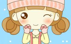 可爱卡通图片女孩萌