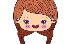 微笑可爱卡通图片女孩