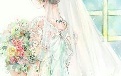 画女孩背影婚纱