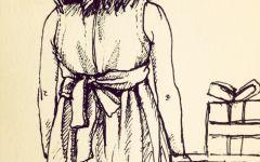 画女孩背影图片
