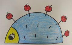 幼儿画圆形的画