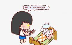 发烧卡通图片可爱女孩