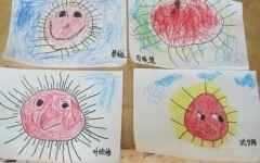 小班简单画太阳