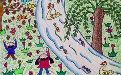 幼儿园春天的画
