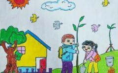 幼儿植树节绘画