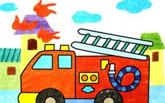 警察图画幼儿画