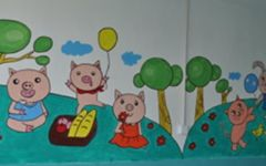 幼儿园墙面绘画图片
