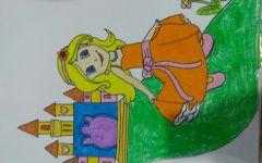 儿童绘画公主城堡