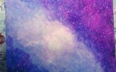 手绘唯美星空图