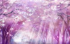 樱花唯美卡通图片