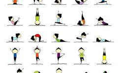 瑜伽可爱卡通图片