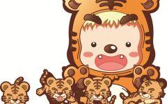 可爱老虎的卡通图片